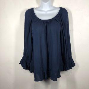 INC Navy blue blouse size 10
